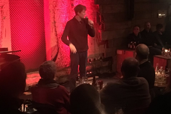 James Acaster at the Bear Club Luton